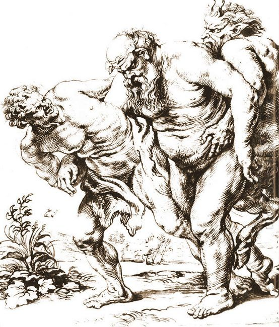 Silenus (or Bacchus) and Satyrs c. 1616