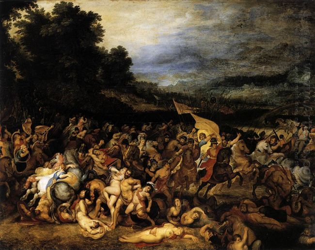 The Battle of the Amazons c. 1600