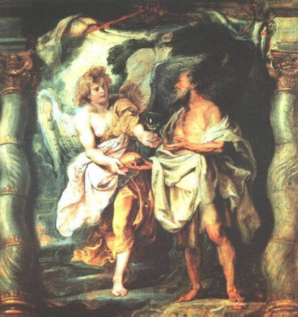 The Prophet Elijah Receiving Bread and Water from an Angel 1625-