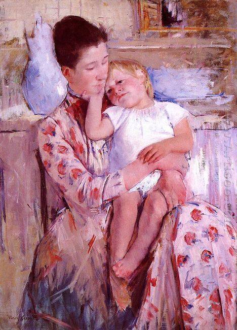 Emmie and Her Child by Mary Cassatt | Oil Painting Information