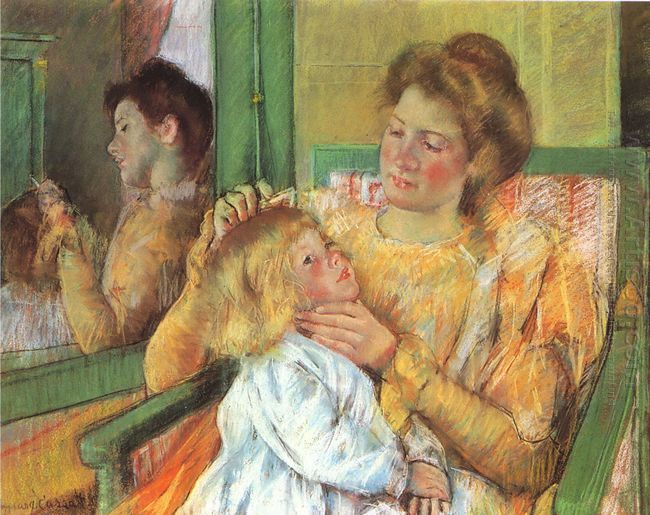Mother Combing Her Child's Hair, c.1901
