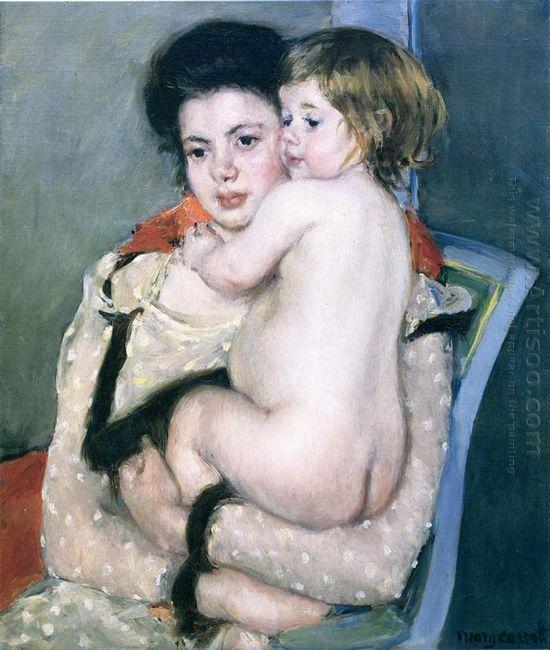 Reine Lefebvre Holding a Nude Baby, 1902