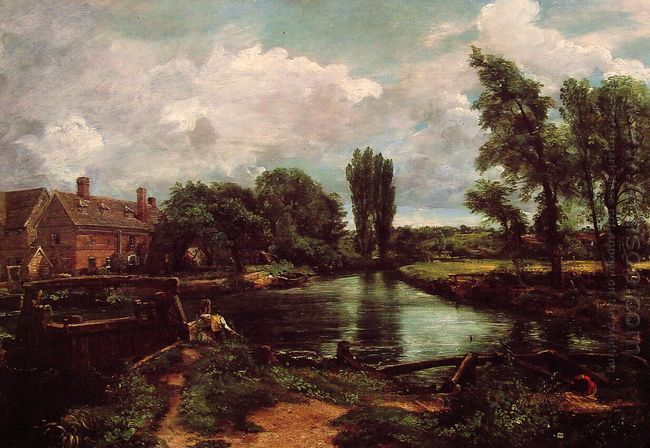 flatford mill from a lock on the stour 1811
