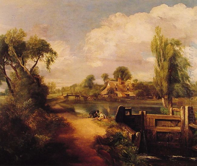 landscape boys fishing 1813