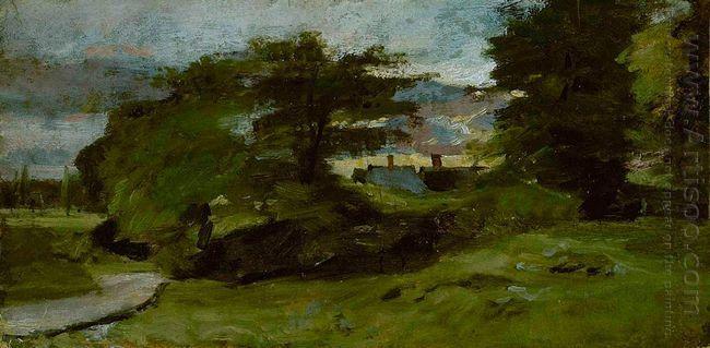 landscape with cottages 1810