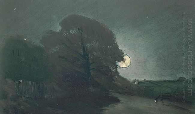 the edge of a heath by moonlight 1810 1