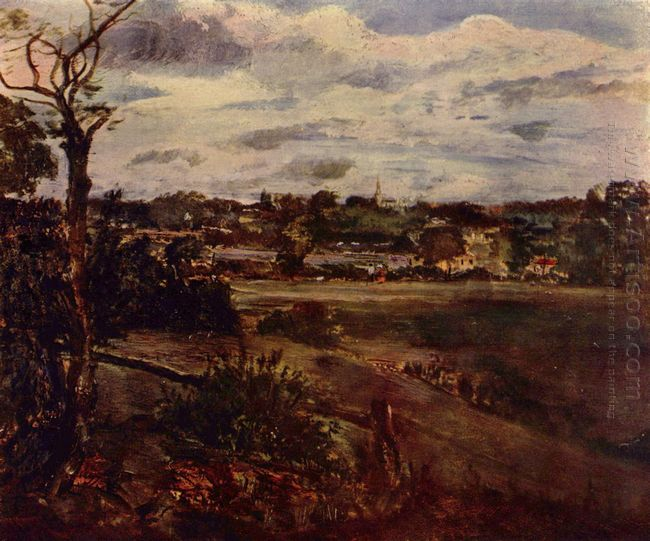 view of highgate from hampstead heath