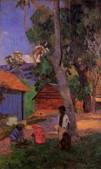 around the huts 1887