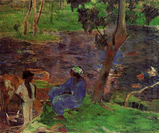 at the pond 1887