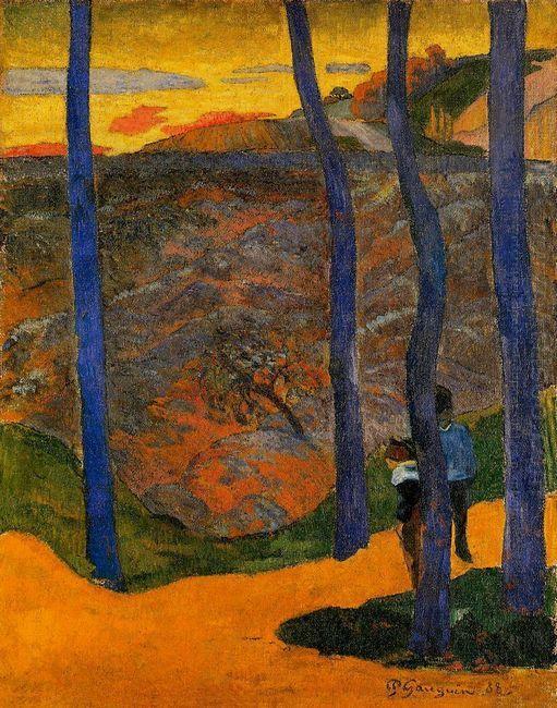 blue trees 1888