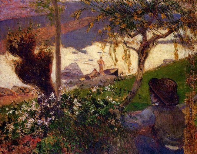 breton boy by the aven river 1888