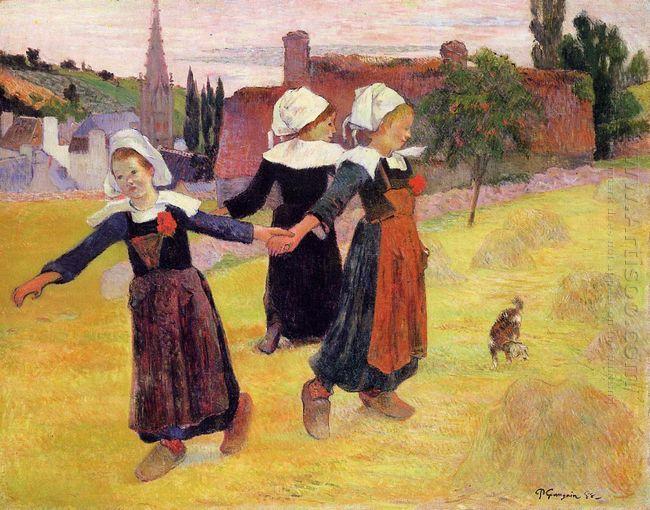 breton girls dancing 1888