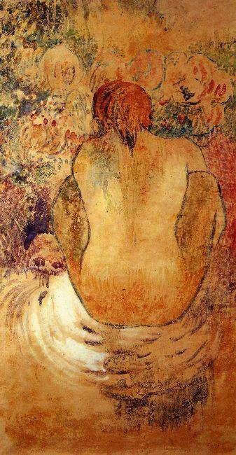 crouching tahitian woman 1902