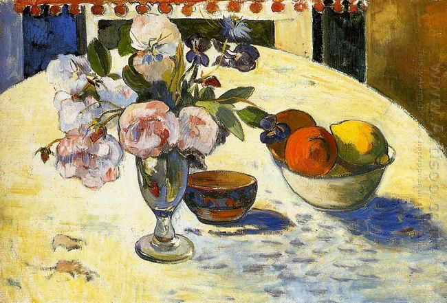 flowers in a fruit bowl 1894