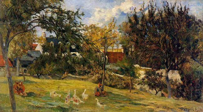 geese in the meadow 1885