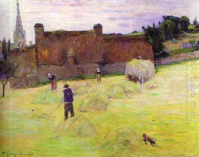 haymaking in brittany 1888