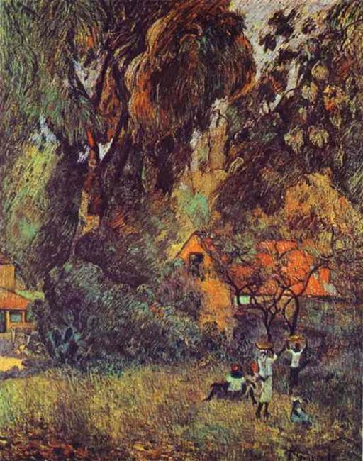 huts under trees 1887