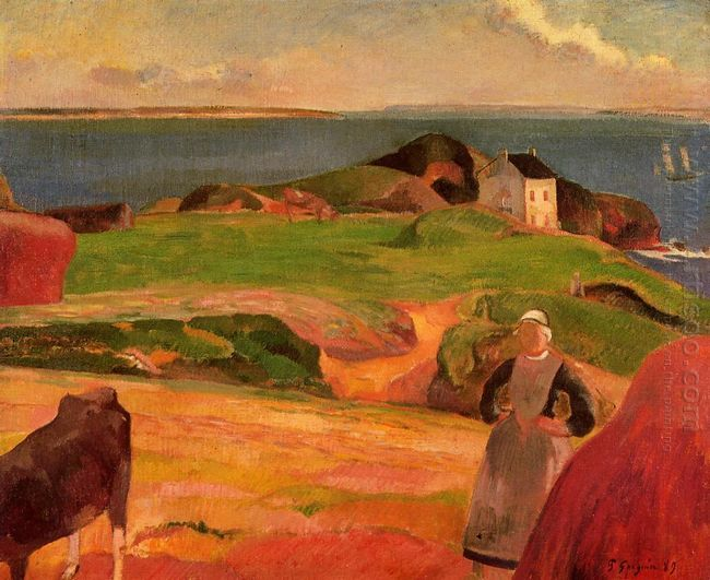 landscape at le pouldu the isolated house 1889
