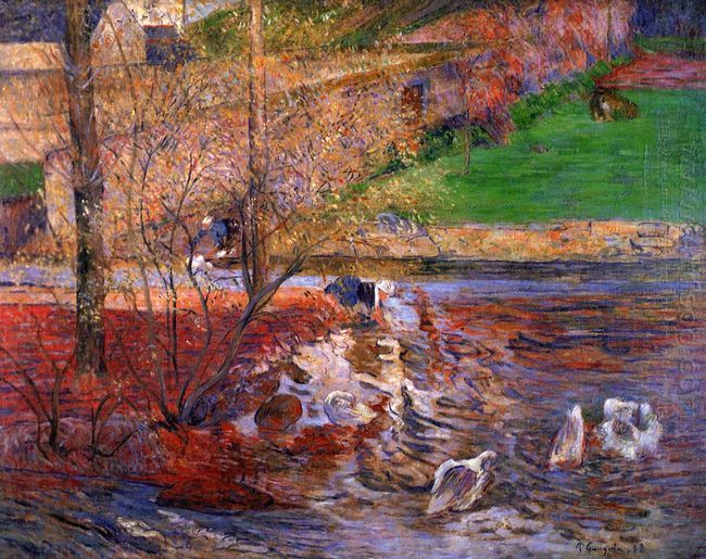 landscape with geese 1888