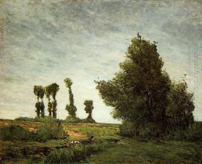 landscape with poplars 1875