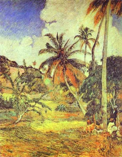 palm trees on martinique 1887