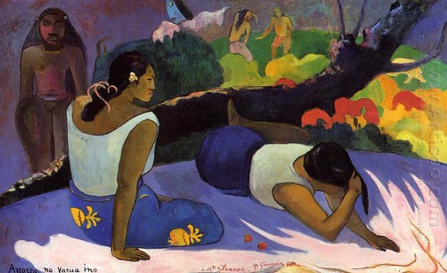 reclining tahitian women 1894