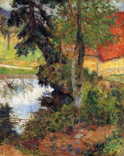red roof by the water 1885