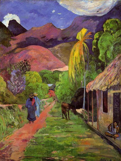 road in tahiti 1891