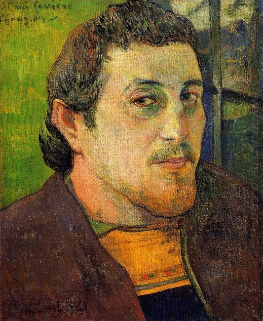self portrait at lezaven 1888