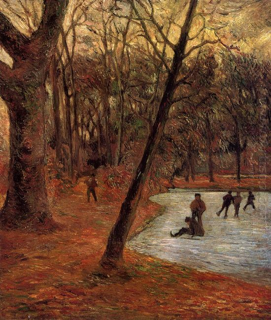 skaters in fredericksberg park 1884