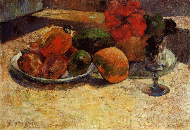 still life with mangoes and hibiscus 1887