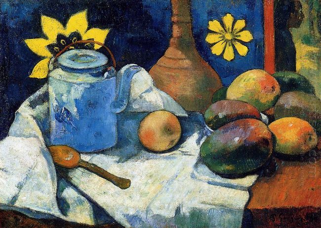 still life with teapot and fruits 1896