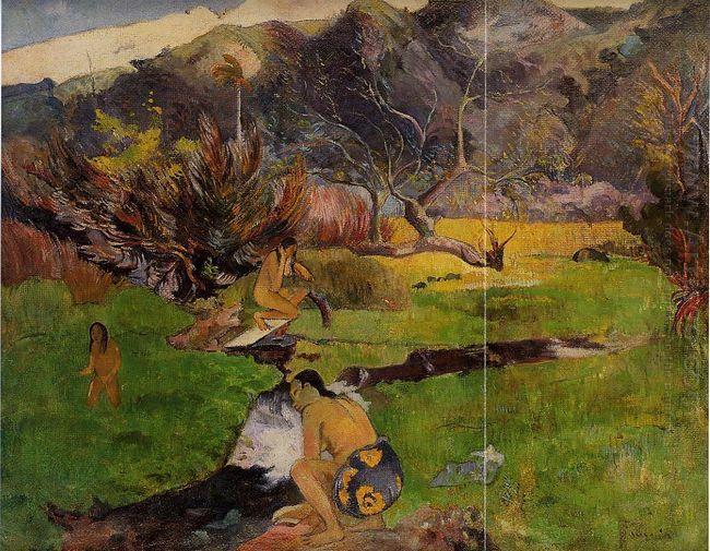 tahitian woman near river 1893
