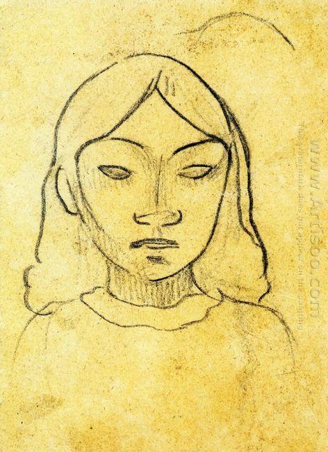 tahitian woman s head
