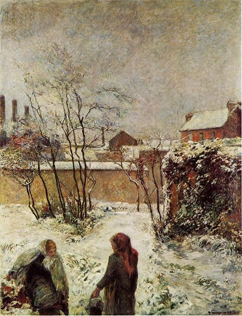 the garden in winter rue carcel 1883
