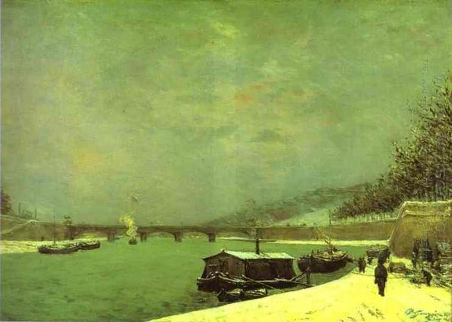 the seine at the pont d iena 1875