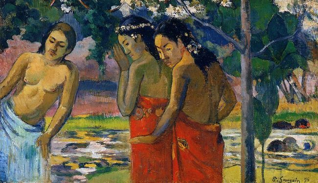three tahitian women 1896