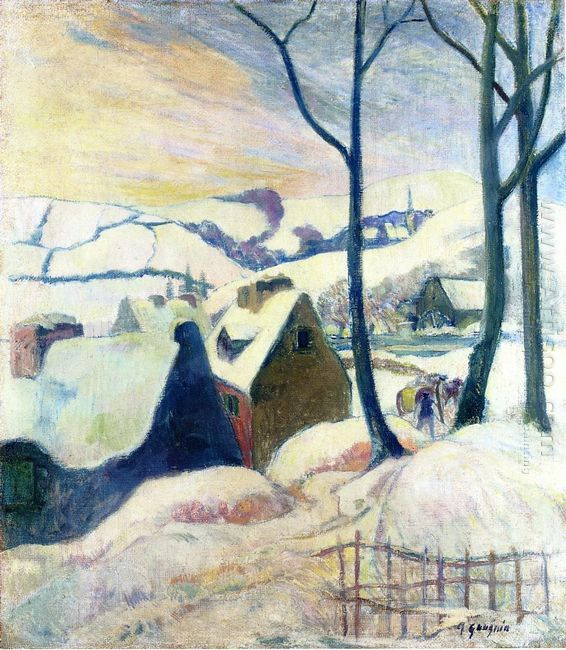 village in the snow 1894