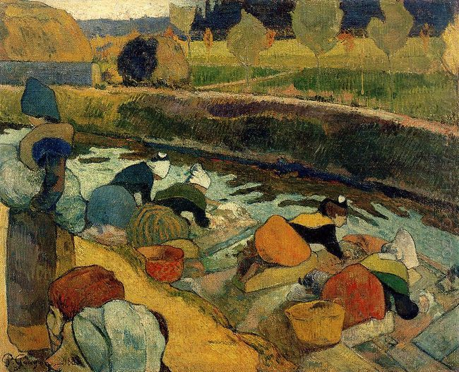 washerwomen at roubine du roi 1888
