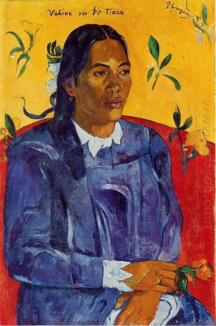 woman with a flower 1891