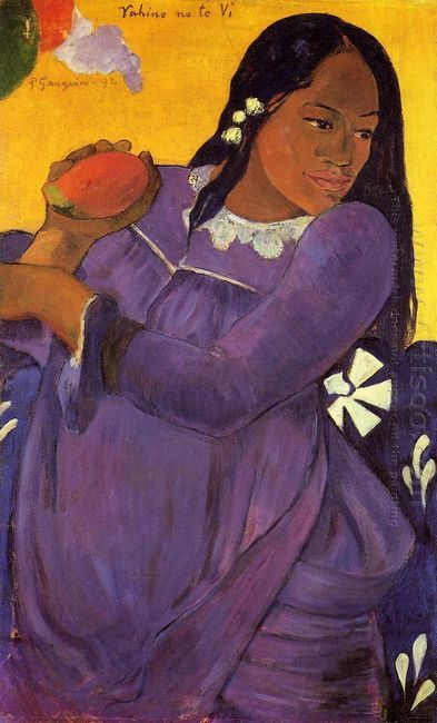 woman with a mango 1892