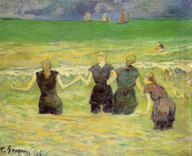 women bathing dieppe 1885