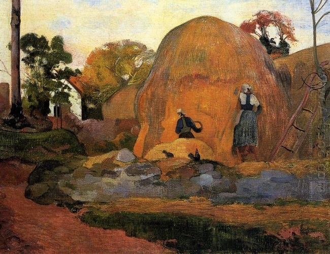 yellow haystacks golden harvest 1889