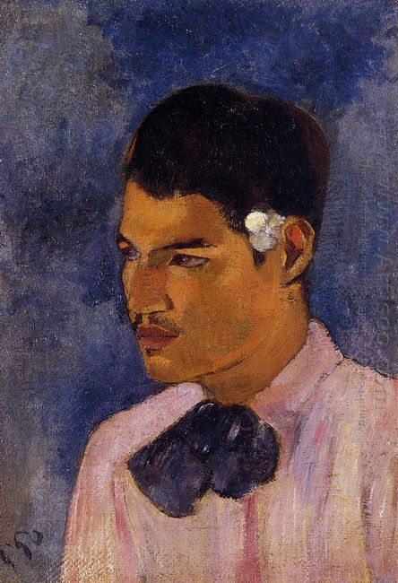 young man with a flower behind his ear 1891