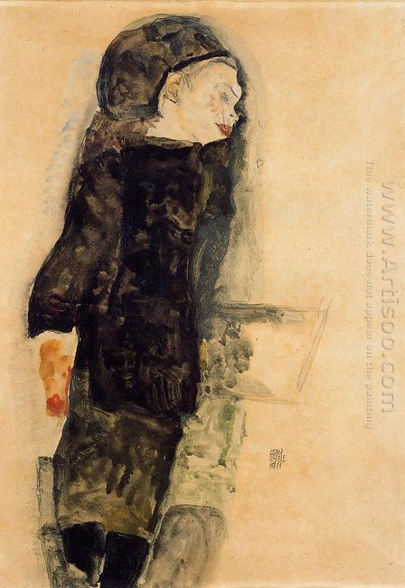 child in black 1911