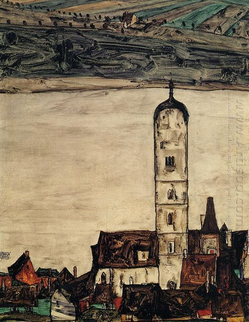church in stein on the danube 1913