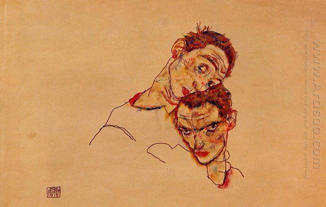 double self portrait 1915