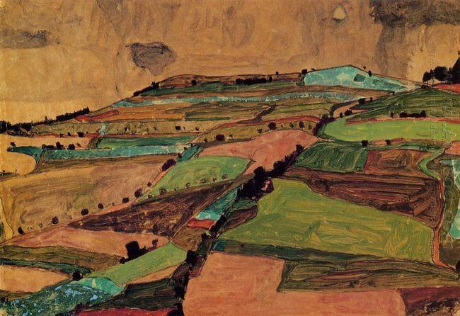field landscape kreuzberg near krumau 1910