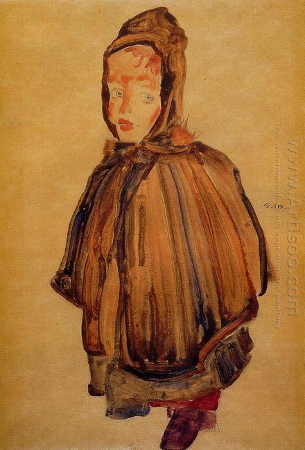 girl with hood 1910