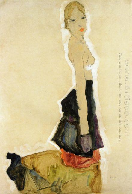 kneeling semi nude 1911